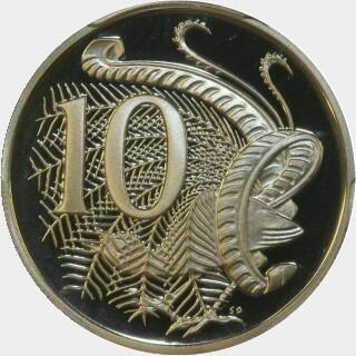 1989 Proof Ten Cent reverse