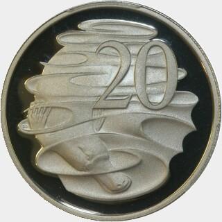 2000 Proof Twenty Cent reverse