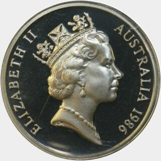 1986 Proof Ten Cent obverse