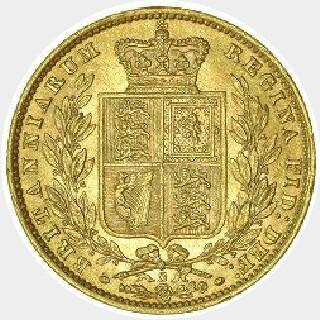 1871-S Proof WW Incuse Full Sovereign reverse