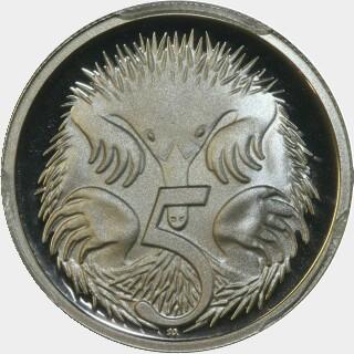 1989 Proof Five Cent reverse