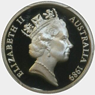 1989 Proof Five Cent obverse