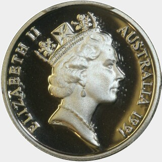 1991 Proof Five Cent obverse