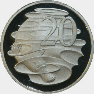 2012 Proof Twenty Cent reverse