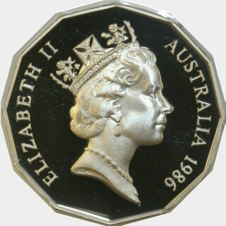 1986 Proof Fifty Cent obverse