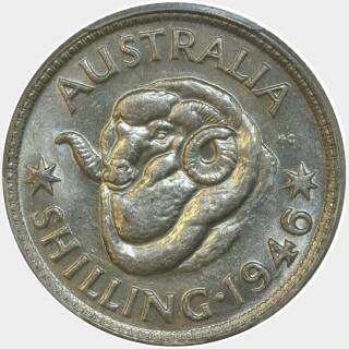 1946  Shilling reverse