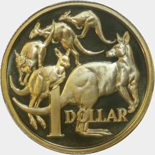 1985 Proof One Dollar reverse