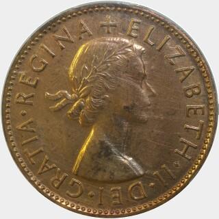 1955 Proof Half Penny obverse