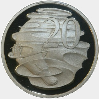 2006 Proof Twenty Cent reverse