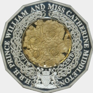 2010 Gold Overlaid Proof Fifty Cent reverse