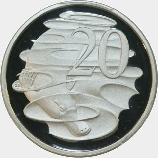 2014 Silver Proof Twenty Cent reverse