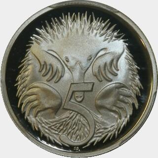 1990 Proof Five Cent reverse