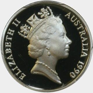 1990 Proof Five Cent obverse