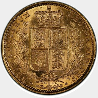 1883-S  Full Sovereign reverse