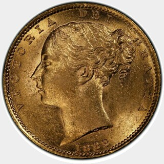 1883-S  Full Sovereign obverse