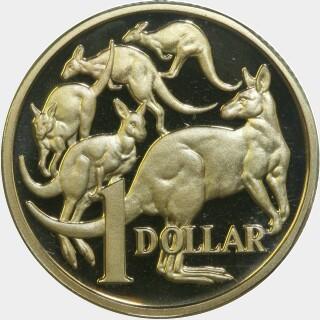 1984 Proof One Dollar reverse