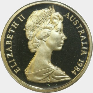 1984 Proof One Dollar obverse