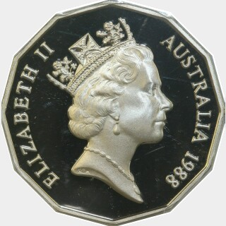1988 Proof Fifty Cent obverse