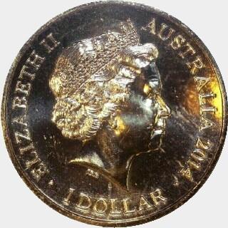 2014  One Dollar obverse