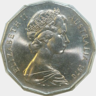 1970  Fifty Cent obverse