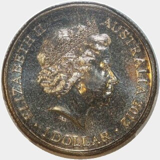 2012  One Dollar obverse