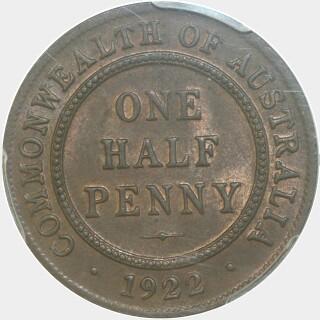 1922  Half Penny reverse