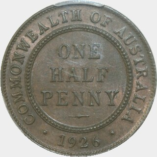 1926  Half Penny reverse