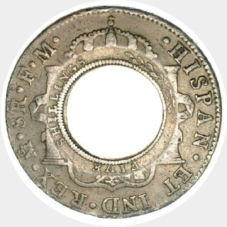 1813 1773 | Mexico City Holey Dollar reverse