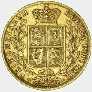1875-S  Full Sovereign reverse
