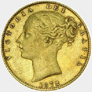 1875-S  Full Sovereign obverse
