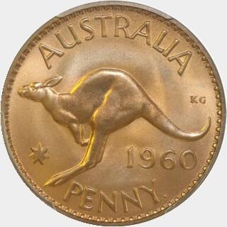 1960-Y Proof Penny reverse