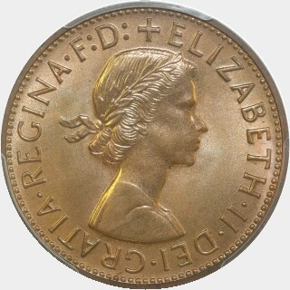 1961-Y Proof Penny obverse