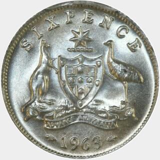 1963  Sixpence reverse