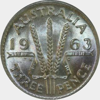 1963  Threepence reverse
