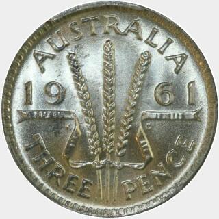 1961  Threepence reverse