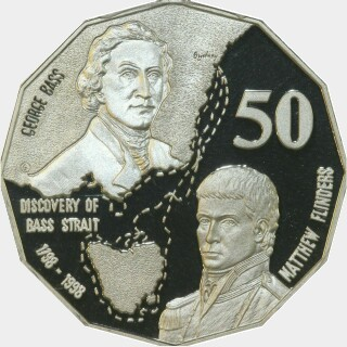 1998 Proof Fifty Cent reverse