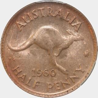 1960-Y  Half Penny reverse