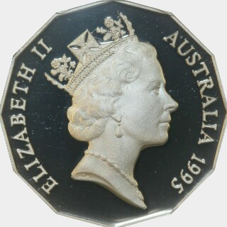 1995 Proof Fifty Cent obverse