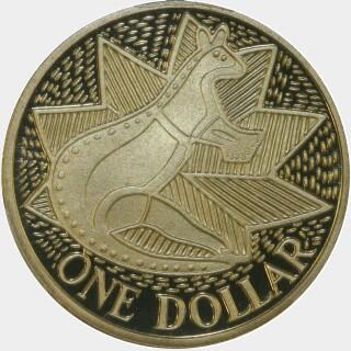 1988 Proof One Dollar reverse