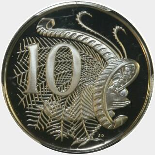 1976 Proof Ten Cent reverse