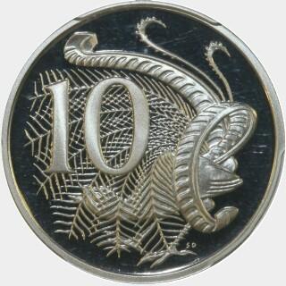 1985 Proof Ten Cent reverse