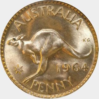 1964  Penny reverse