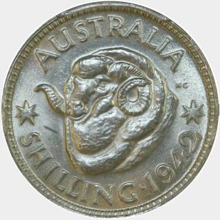 1942  Shilling reverse