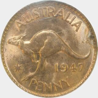1947  Penny reverse