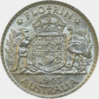 1943  Florin reverse
