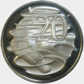 1966 Proof Twenty Cent reverse