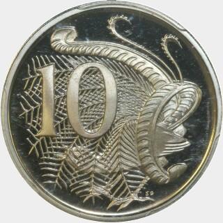 1966 Proof Ten Cent reverse