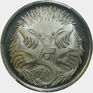 1966 Proof Five Cent reverse