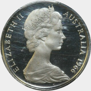 1966 Proof Five Cent obverse