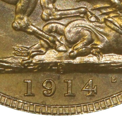 P mintmark above the date